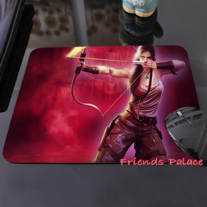 Sexy Warrior Lara Croft Tomb Raider Adventure Personalized Silicon Mouse Pad Amazing Rectangular Mice Mats for Computer Laptop(China (Mainland))