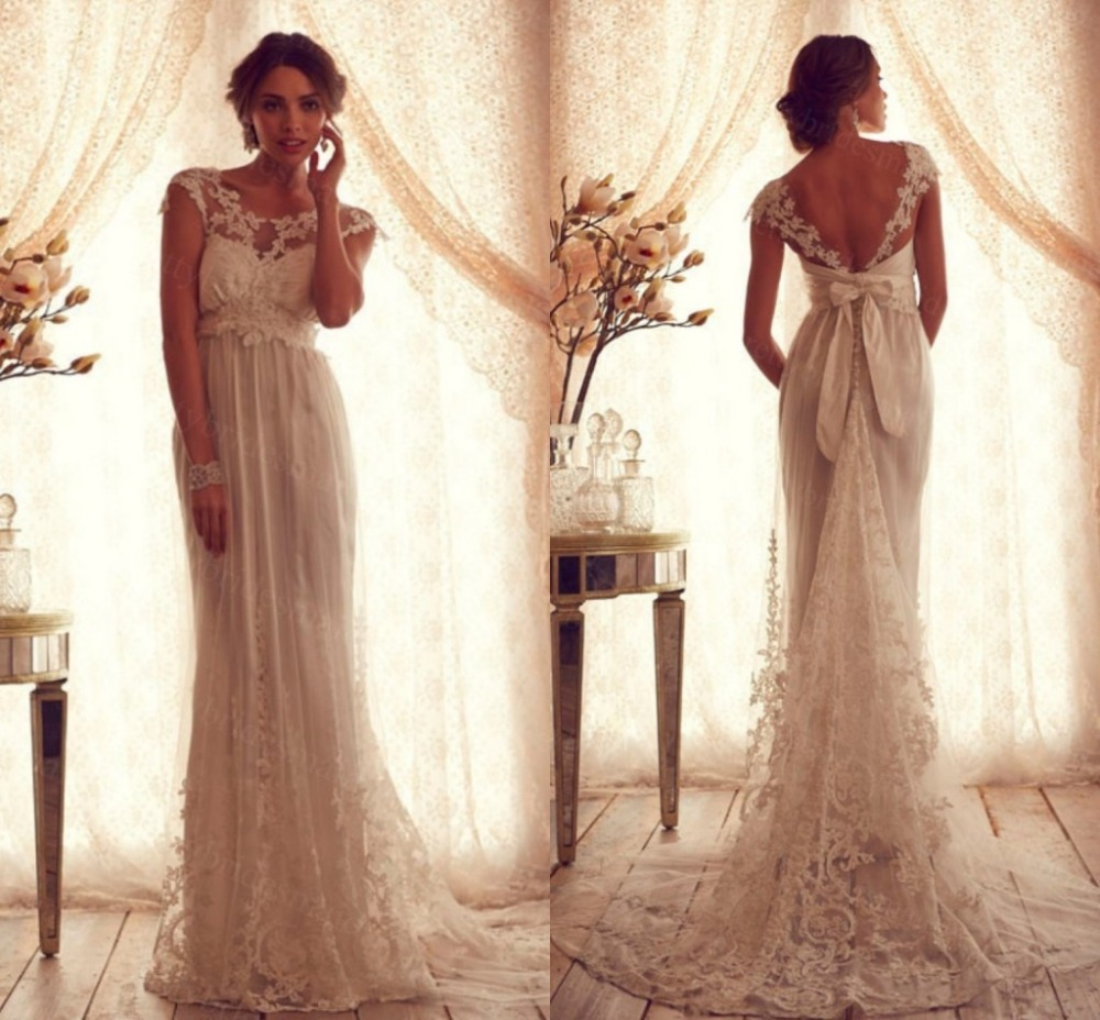 Vintage boho beach mermaid country lace wedding dress plus for Boho country wedding dress