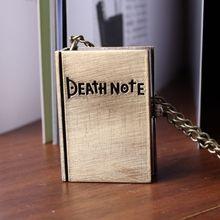 Libro Death note fresco reloj de bronce de época analógico colgante caliente de la venta dropship collar mejor regalo 2015