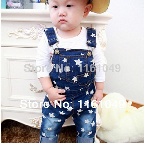 2016 summer baby toddler boys overalls jeans kids children jumpsuit pants jeans trousers retail(China (Mainland))