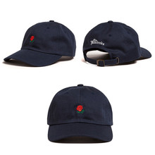 Green Pink Black Navy Khaki Sky Blue THE HUNDREDS Flower Rose Embroidery Curved Summer Snapback Baseball Cap trapback Hip Hop(China (Mainland))