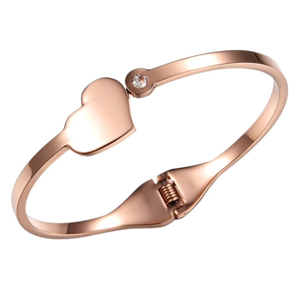 Ladies Fashion Rose Gold Plated 316L Stainless Steel Bracelet-Bangle - AmorWing store