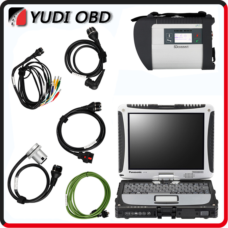 CF19 + MB Star C4 SD Connect HDD Mercedes Star Diagnosis Xentry Diagnostics System Compact 4 Multiplexer For Benz Diagnose(China (Mainland))