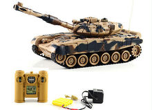 World of tank Germany Army Radio Remote Control Battle Model Millitary 1/24 War Game toy Infrared Battle RC Tanks Camouflage