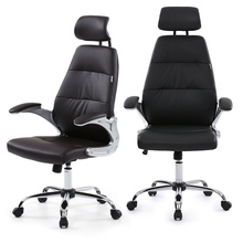 Brand IKAYAA Faux Leather Office Chair Stool High Back Ergonomic Swivel Computer Task Office Furniture +SGS Testing US Stock(China (Mainland))