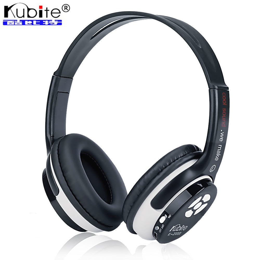 Kubite Brand Wireless Stereo Bluetooth Headphone Deep Bass Noise Cancelling Ear Buds Headphone With Mic Support TF Card,FM Radio(China (Mainland))