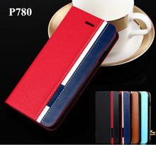 Чехол для Lenovo P780, бизнес и стойка перевёрнутый кожа чехол для p780 чехол мобильный телефон смешать цвет