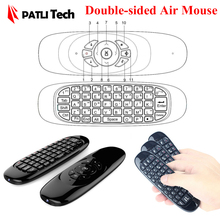 Double-sided remote keyboard air mouse for android tv box set-top box, 2.4Ghz / Build-in rechargeable Li Battery T10 / C120(China (Mainland))