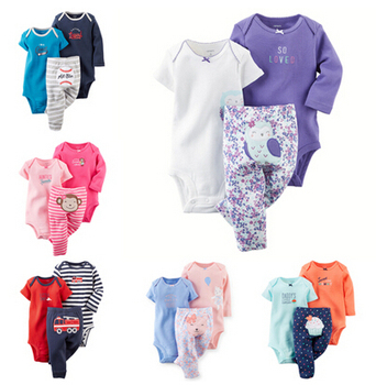 drop shipping Carters Baby Clothing Boys Girls Sets, kids clothes(Bodysuits+Pants)3Pcs or 2pcs children clothing,CY-037