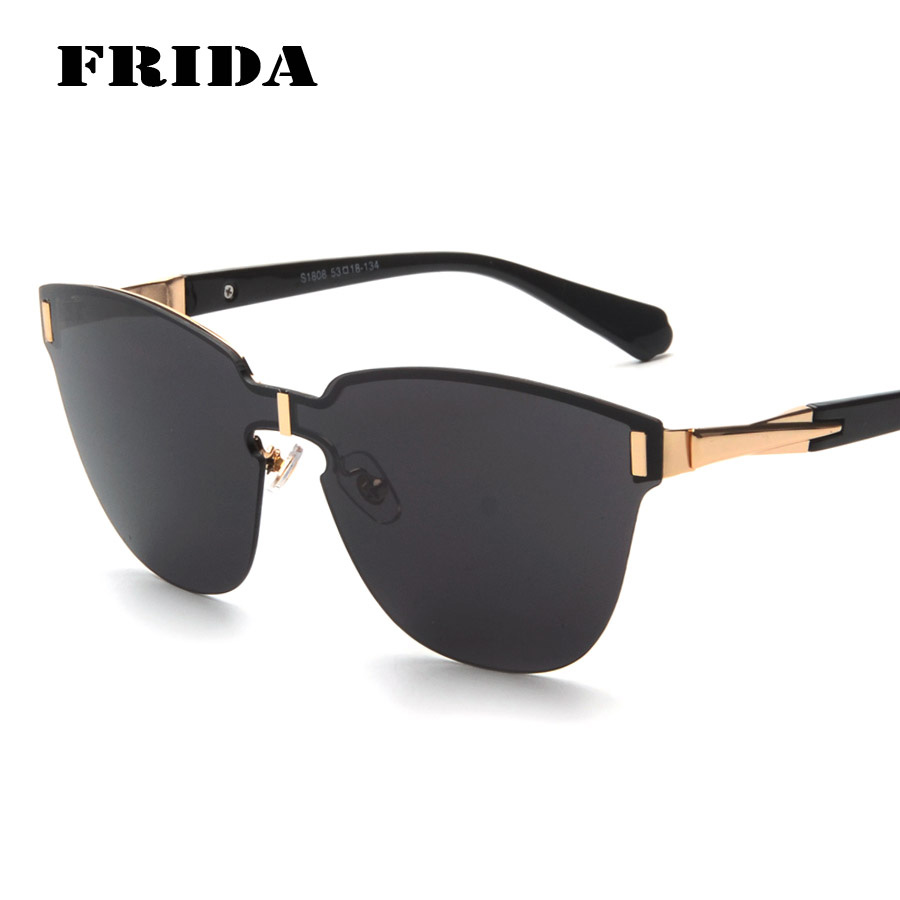 Rimless Glasses Trend : FRIDA 2016 New Brand Oversized Sunglasses Fashion Rimless ...