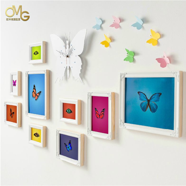 Free shipping 10 boxes 8x10 photo frame europe wood for Multi frame wall art