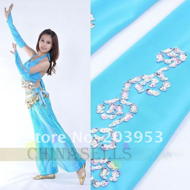 free ship Handmade bead embroidery belly dance sleeve arm sleeves belly dance gloves cuff accessories(China (Mainland))