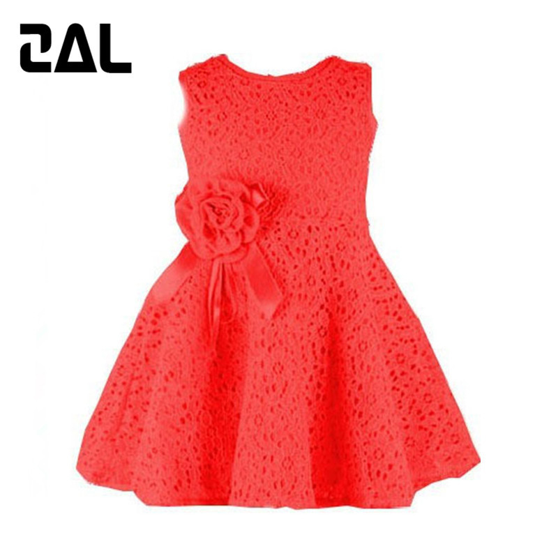 2015 Brand New Summer Style Baby Girl Dress Cute Sleeveless Lace Kid Clothes Fashion A-Line Girls Dresses vestidos infantis 2D(China (Mainland))