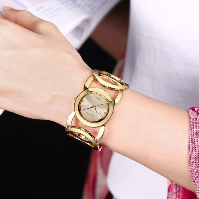 Zegarek damski WEIQIN obręcze kryształki klasyczny różne modele