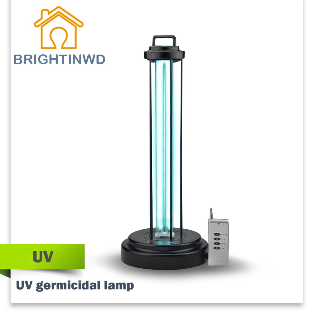 uv lamp Mobile ultraviolet germicidal lamp WITH REMOTE CONTROL 36W 220V UV bulb disinfection lamp sterilization lamp UV led(China (Mainland))