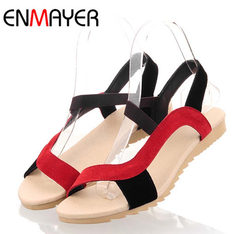 2016 New Fashion Flats Heel Women Sandals Genuine Leather Sandal Ladies Mix Colors High Quality Wholesale Low Price Causal Shoes(China (Mainland))