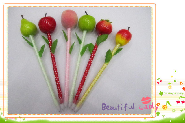 Hotsale! New fruit pen/Ball pen/ Fashion promotional pen with different colors wholesale 100pcs/lot Free shipping