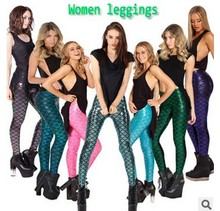 XS-2XL Women Leggings Black Leggings Hot Women Sexy Trousers Slim Black Mermaid Leggings Space Printed Pants Plus Size Legging(China (Mainland))
