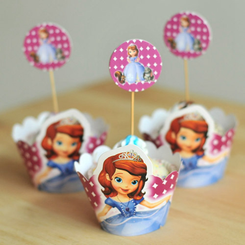 Princess Kate Cake Topper Wedding Event Party Supplies Cupcake Wrapper For Girl Gift Decoration For Children Party Items(China (Mainland))