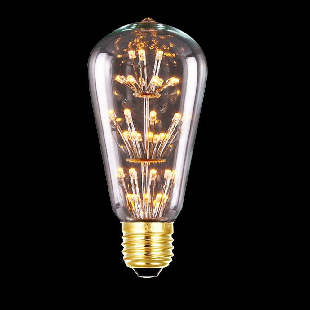 Tanbaby 3w St64 Led Filament Bulb E27 Warm White Edison Light Bulbs 3000k Squirrel Cage Vintage