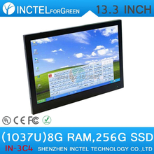 Hot sell gaming desktops with fan Industrial 4-wire resistive touchscreen all in one pc 8G RAM 256G SSD(China (Mainland))