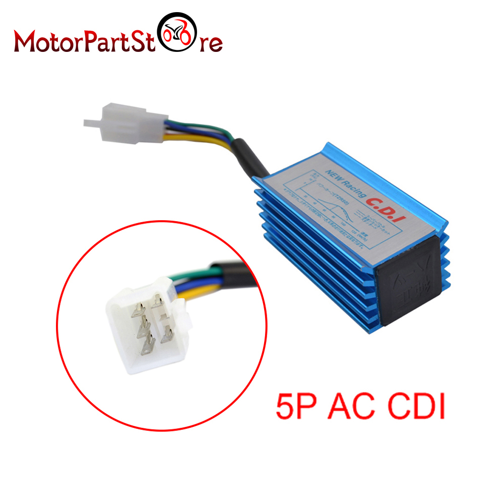 5 Pin High Performance Racing AC CDI for GY6 50cc 70cc 90cc 110cc 125cc 4-Stroke ATV Dirt Pit Bike Scooter Motorcycle Accessory(China (Mainland))