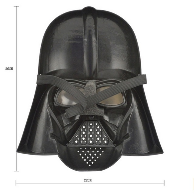 Star Wars Halloween Festival Horror Mask Darth Vader Horrible Super Hero Plastic Masquerade Masks Black Party