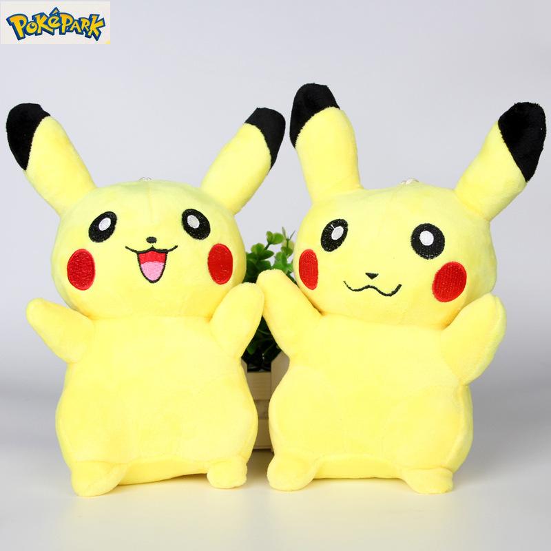 1 Pc 22cm Kawaii Anime Pokemon Pikachu Soft Plush Stuffed Doll Action Figure Kids Toys for Children Christmas Decoration Gifts(China (Mainland))