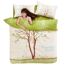 2016 New Aloe Active Printed Four Piece Set of Bedding Large Version of Flower Positioning Pro Skin Kit(China (Mainland))