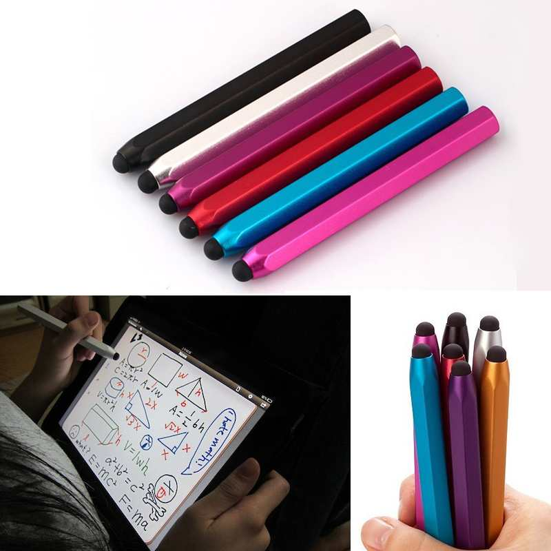 2015 Pro Fine 2 in 1 Hexagonal Capacitive Touch Stylus Pen for Apple iPad Nexus 7 Galaxy Tablets Kindle Fire Dropshipping(China (Mainland))