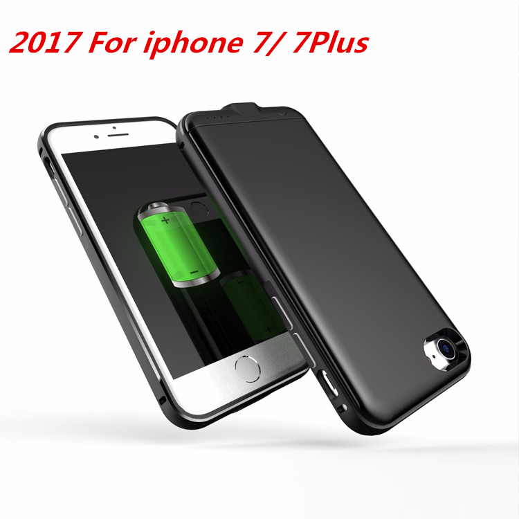 Metal Shell For Apple Iphone 7 iphone 7 plus Battery Case 3000mAh 4000 Mah Power Bank Charger Cover Smart Power Case(China (Mainland))