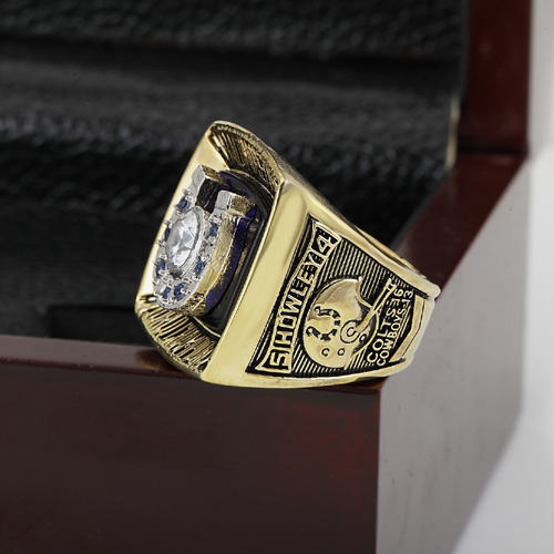 Bottom price 1970 Baltimore Colts Replica Super Bowl Copper Custom High Quality Championship Rings with Gorgeous Wooden Boxes(China (Mainland))