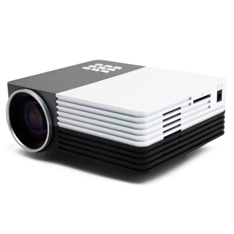 Led projector gm50 1080p 3d hdmi home theater mini for Top rated pocket projectors