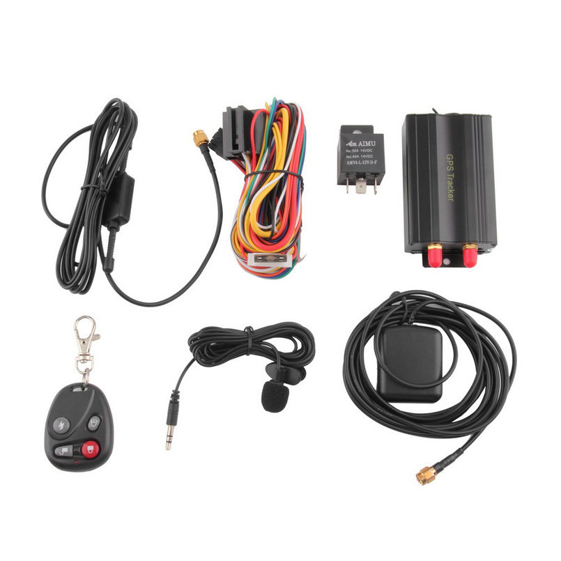 1 set Auto Vehicle TK103B GPS Tracker Car GSM/GPRS Tracking Device with Remote Control rastreador veicular(China (Mainland))