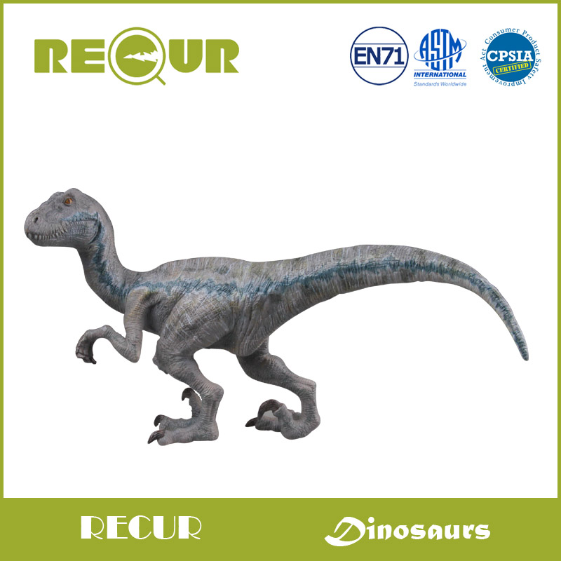 Recur Jurassic Park Classic Velociraptor Dinosaur Delicate Model Collection Hand Painted PVC Action Figures Soft Toys For Kids(China (Mainland))