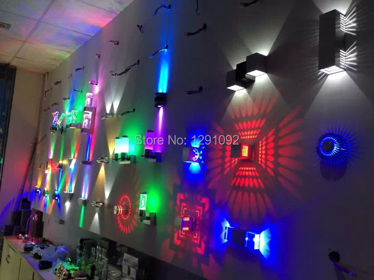 Led magic colorful wall lamp light bar KTV laser acoustic background light sun stage light flash Free shipping indoor wall lamp(China (Mainland))