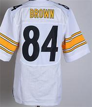2016 Uomo Pittsburgh Steelers #84 Antonio Brown #7 Ben Roethlisberger #25 Bruns Elite embroideried nero bianco#26 LeVeon Campana(China (Mainland))