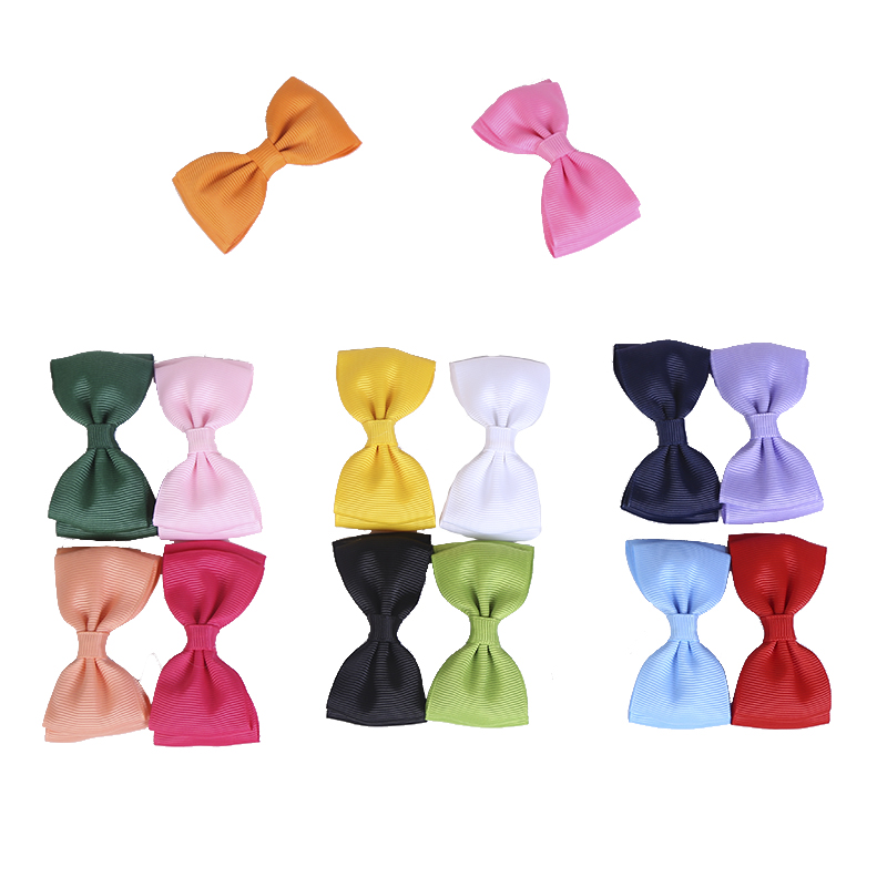 "New 2"" Little baby girl hair grosgrain ribbon Bow Baby Boutique hairpins girl hair accessories Kids Ribbon bows Hair clips y2418(China (Mainland))"