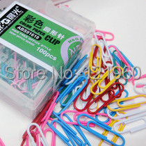 Free shipping The morning ABS91618 color paper clips 100 / box<br><br>Aliexpress