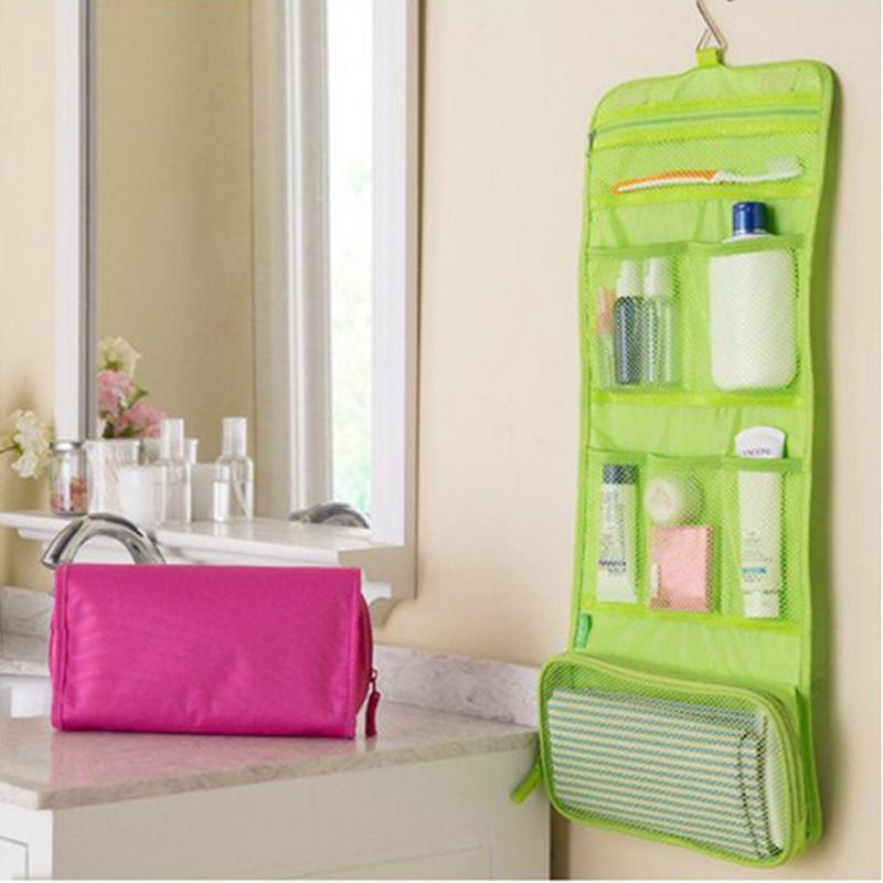 2016 Fadish Big Travel Storage Makeup Bag Poly Cosmetic Bag Portable Can Be Hung 3 Colors Wash Bag Free Shipping(China (Mainland))