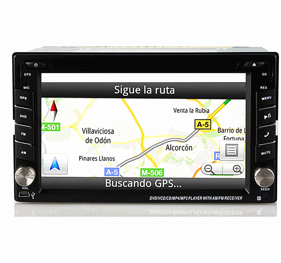 2 din 6.2'' Touch Car Auto DVD GPS Navigation player Stereo Radio GPS Bluetooth tv USB/SD DVD universal Player iPod RDS+Camera