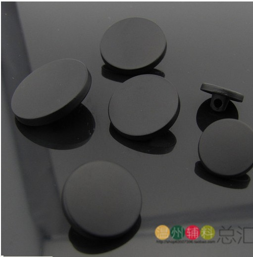 sewing supplies High-grade metal buttons black matte concise suit coat jacket shirt button 22.5mm(China (Mainland))