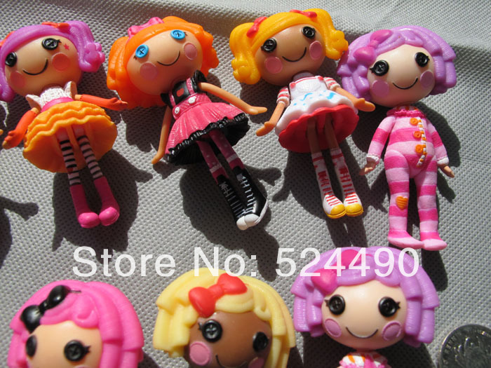 Lot 3 Pcs Lalaloopsy Mini Dolls 3 inches 8cm For Girl Baby Toy PlayHouse Each Unique Different(China (Mainland))