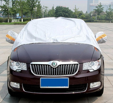 GREY Half Size Car Windscreen Cover Windshield Front Window Shade Snow Ice Frost Visor Scarper(China (Mainland))