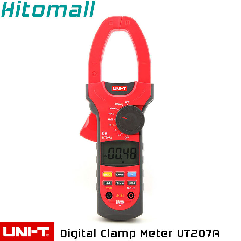 Professional Brand New Auto Range 4000 Counts Resistance Frequency Digital Clamp On Meter UNI-T UT207A<br><br>Aliexpress