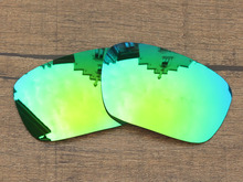 Emerald Green Mirror Polarized Replacement Lenses For Badman Sunglasses Frame 100% UVA & UVB Protection