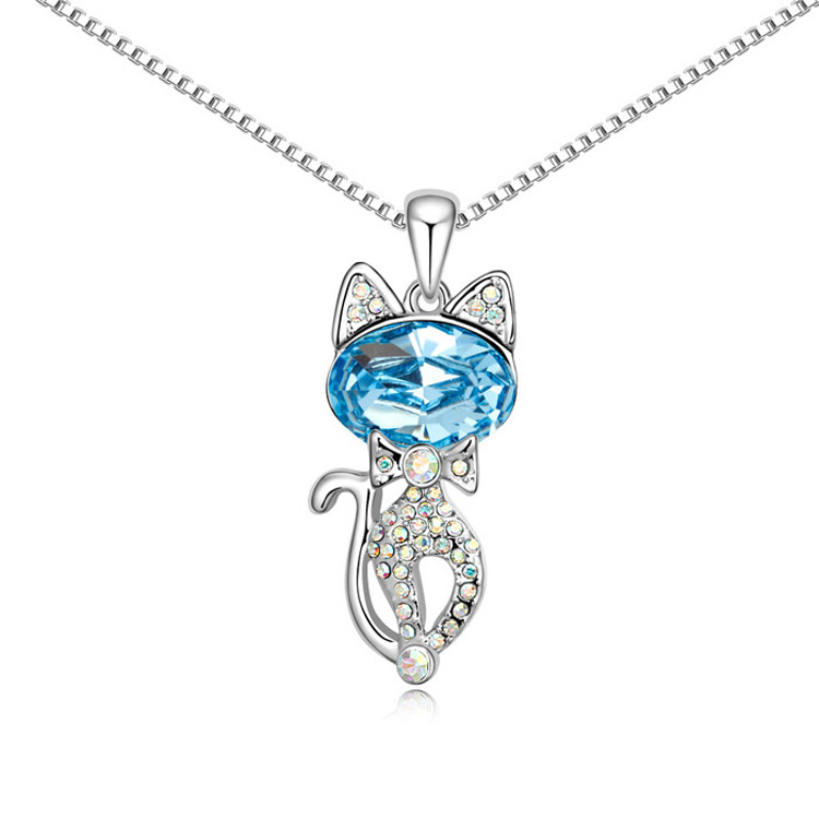 Exquisite accessories cat necklace female pendant fashion chain - cheese small BL250(China (Mainland))
