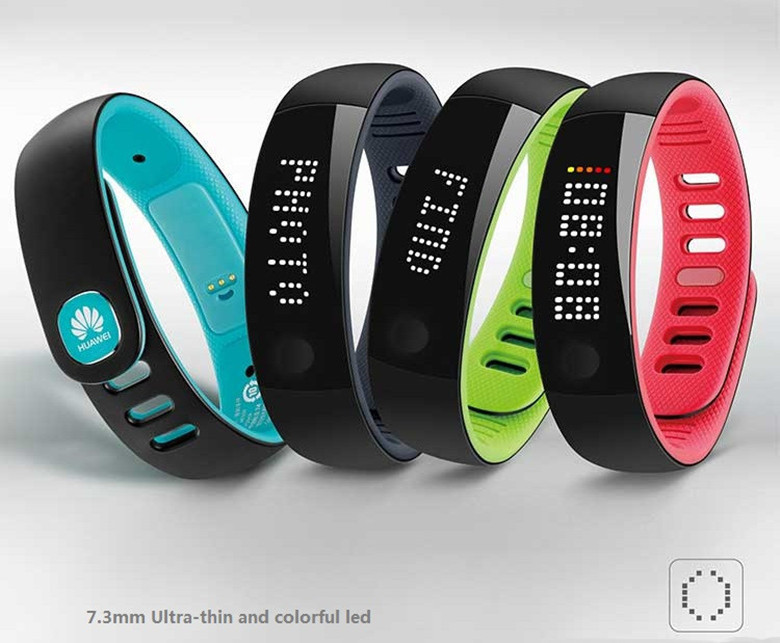 Free Shipping HUAWEI AF500 the thinnest waterproof smart colorful bracelet gifts Bluetooth 4.0 pedometer sleep monitoring(China (Mainland))