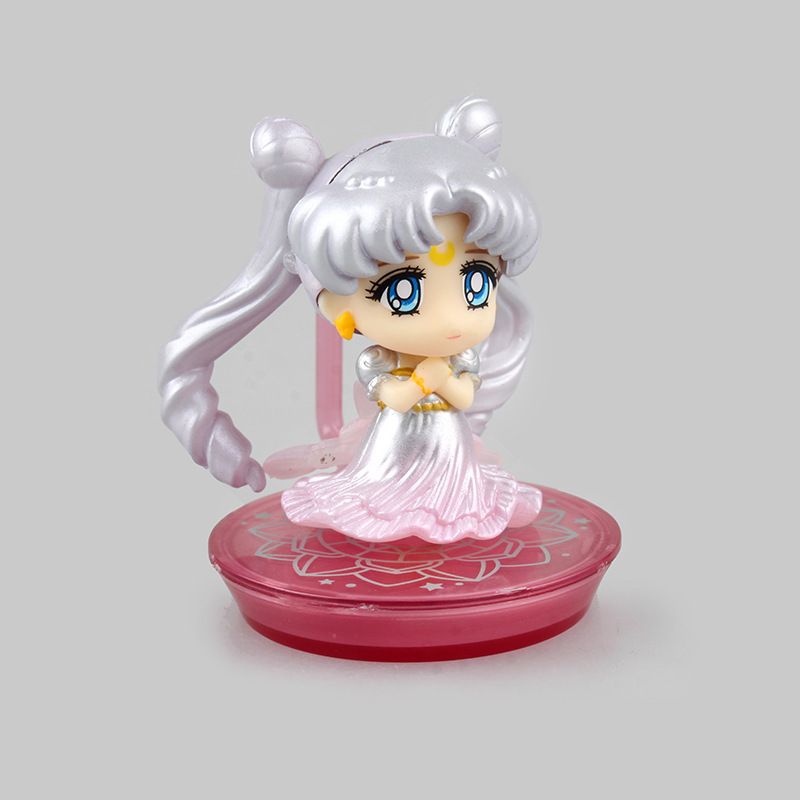 Cute Mini Anime Doll Sailor Moon Princess Serenity Limited Color Edition Wedding Dress PVC Action Figure Model Toy 5.5cm(China (Mainland))