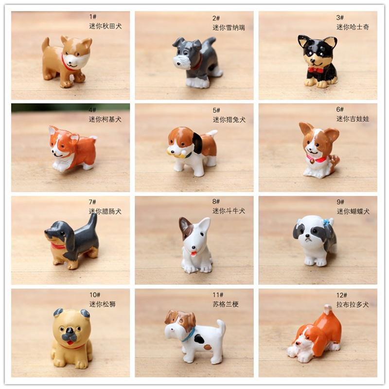 14designs Dogs miniatures lovely animals fairy garden gnome moss terrarium decor crafts bonsai bottle garden table decor diy(China (Mainland))